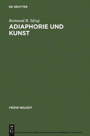 Adiaphorie und Kunst - Blick ins Buch