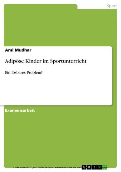 Adipöse Kinder im Sportunterricht - Blick ins Buch
