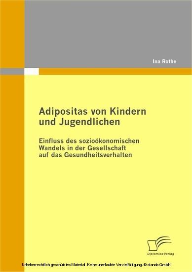 Adipositas von Kindern und Jugendlichen - Blick ins Buch