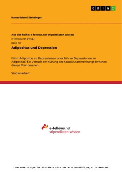 Adipositas und Depression - Blick ins Buch
