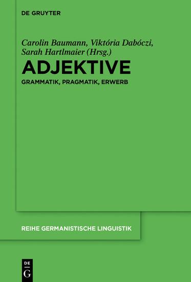 Adjektive - Blick ins Buch
