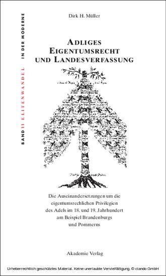 Adliges Eigentumsrecht und Landesverfassung - Blick ins Buch