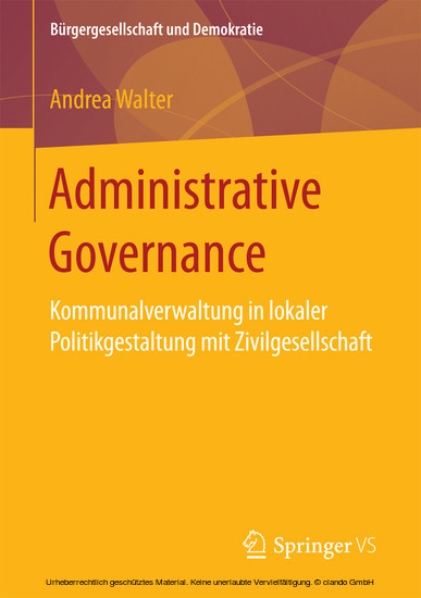 Administrative Governance - Blick ins Buch