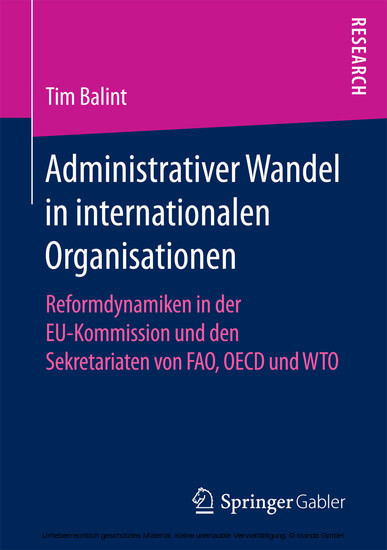 Administrativer Wandel in internationalen Organisationen - Blick ins Buch
