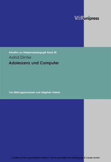 Adoleszenz und Computer - Blick ins Buch