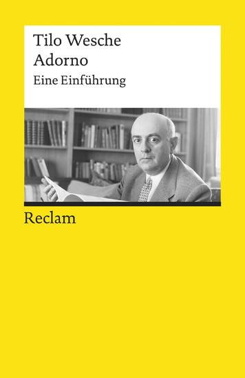 Adorno. Eine Einführung - Blick ins Buch