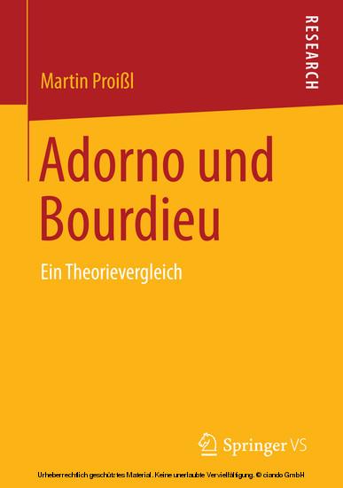 Adorno und Bourdieu - Blick ins Buch