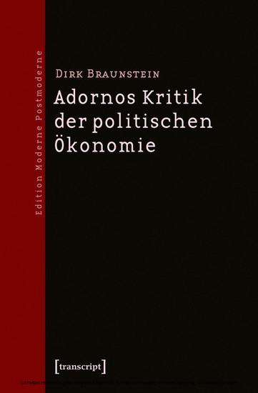Adornos Kritik der politischen Ökonomie - Blick ins Buch