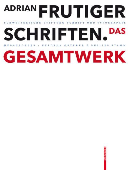 Adrian Frutiger - Schriften - Blick ins Buch