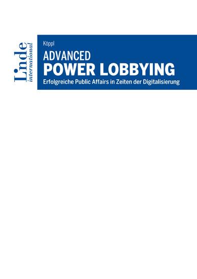 Advanced Power Lobbying - Blick ins Buch