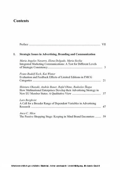 Advances in Advertising Research (Vol. 1) - Blick ins Buch
