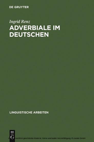 Adverbiale im Deutschen - Blick ins Buch