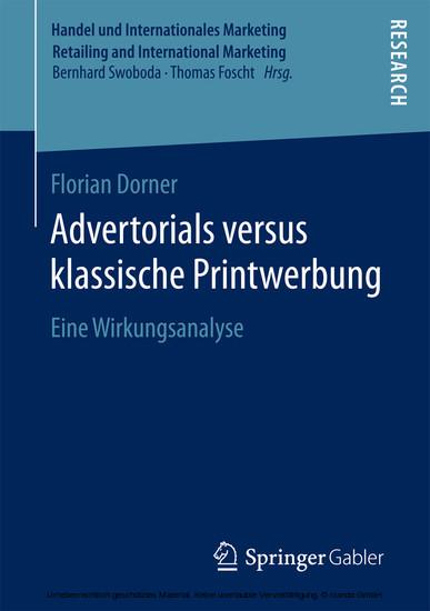 Advertorials versus klassische Printwerbung - Blick ins Buch