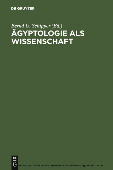 Ägyptologie als Wissenschaft - Blick ins Buch