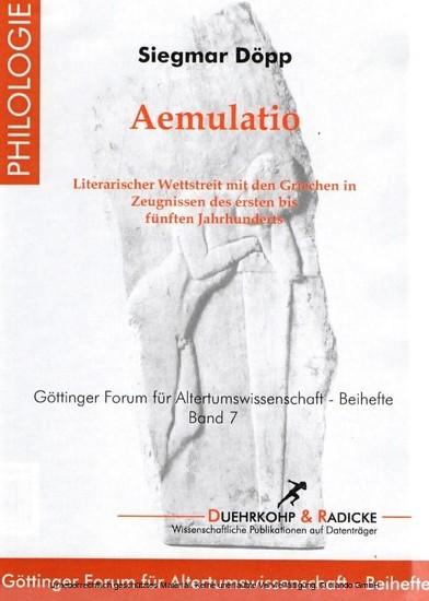 Aemulatio - Blick ins Buch