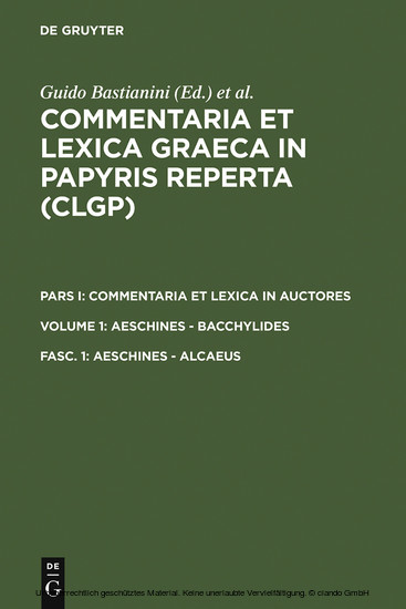 Aeschines - Alcaeus - Blick ins Buch