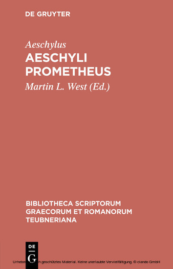 Aeschyli Prometheus - Blick ins Buch