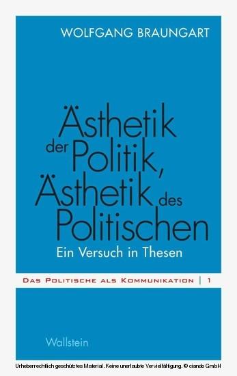 Ästhetik der Politik, Ästhetik des Politischen - Blick ins Buch