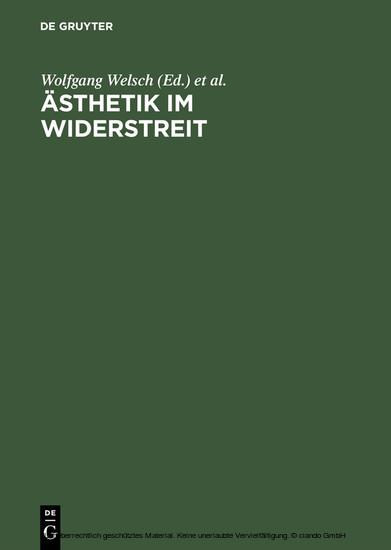 Ästhetik im Widerstreit - Blick ins Buch