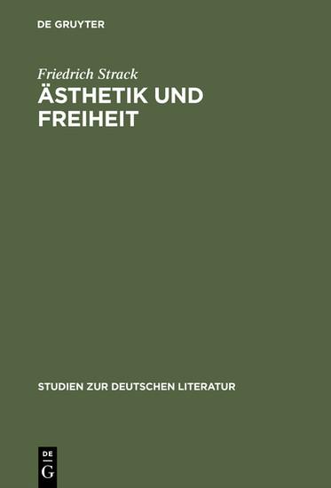 Ästhetik und Freiheit - Blick ins Buch