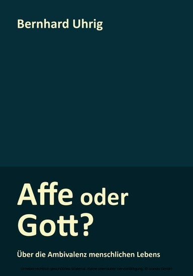 Affe oder Gott? - Blick ins Buch