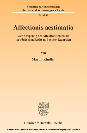 Affectionis aestimatio. - Blick ins Buch