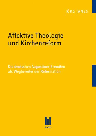 Affektive Theologie und Kirchenreform - Blick ins Buch