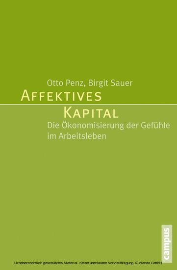 Affektives Kapital - Blick ins Buch