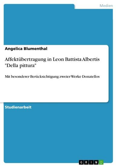 Affektübertragung in Leon Battista Albertis 'Della pittura' - Blick ins Buch