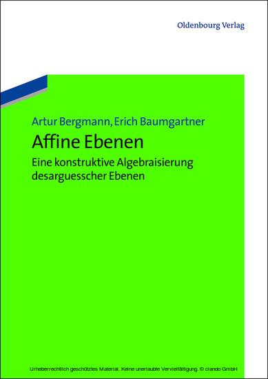 Affine Ebenen - Blick ins Buch