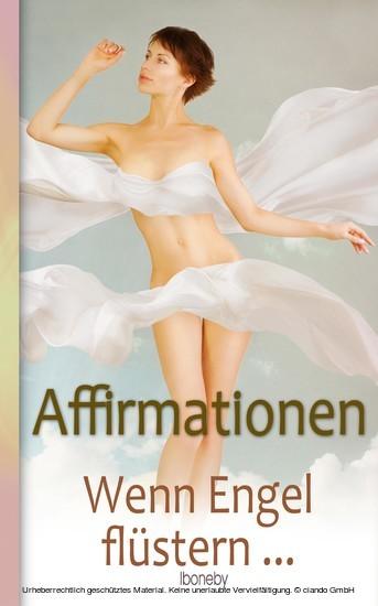 Affirmationen - Wenn Engel flüstern - Blick ins Buch