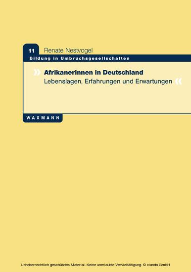 Afrikanerinnen in Deutschland - Blick ins Buch