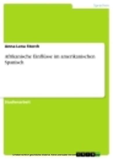Afrikanische Einflüsse im amerikanischen Spanisch - Blick ins Buch
