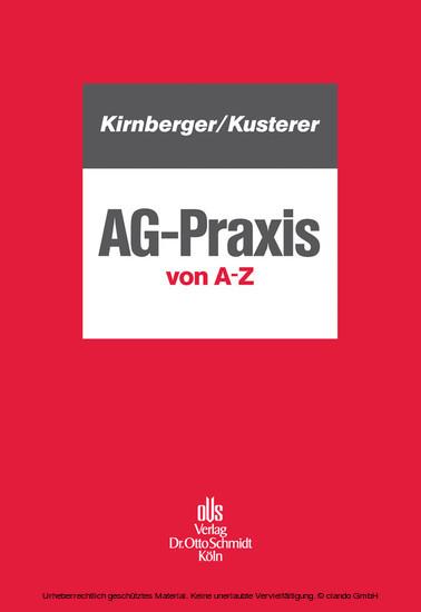 AG-Praxis von A - Z - Blick ins Buch