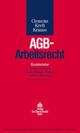 AGB-Arbeitsrecht - Blick ins Buch