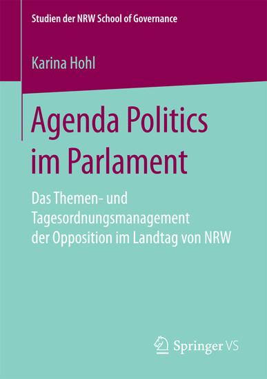 Agenda Politics im Parlament - Blick ins Buch