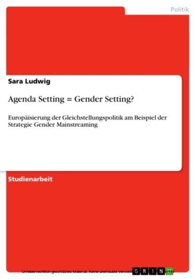 Agenda Setting = Gender Setting? - Blick ins Buch
