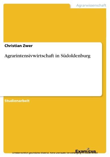 Agrarintensivwirtschaft in Südoldenburg - Blick ins Buch