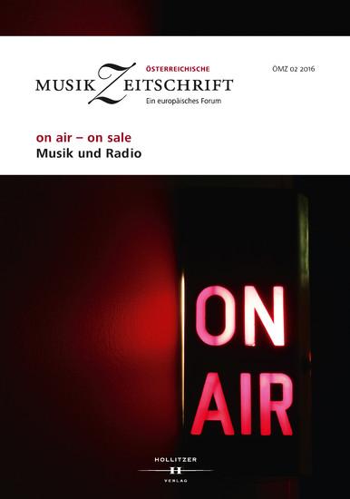 on air - on sale. Musik und Radio - Blick ins Buch