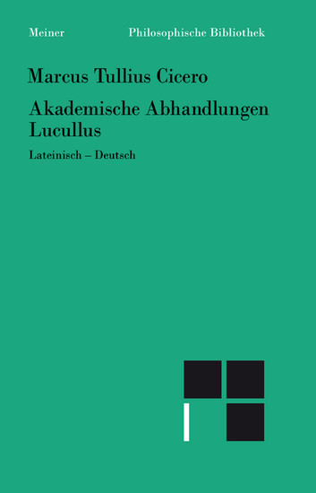 Akademische Abhandlungen. Lucullus - Blick ins Buch