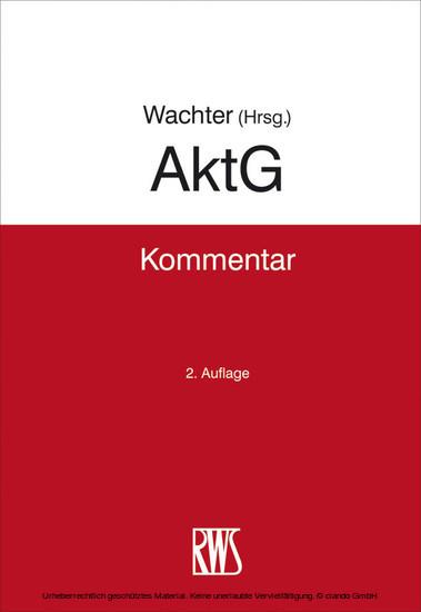 AktG - Blick ins Buch
