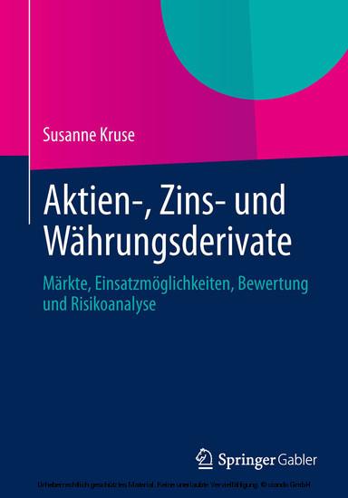 Aktien-, Zins- und Währungsderivate - Blick ins Buch