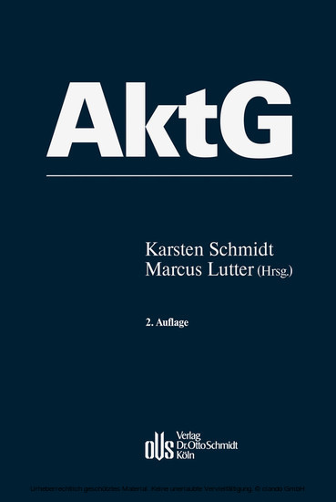 Aktiengesetz - Blick ins Buch