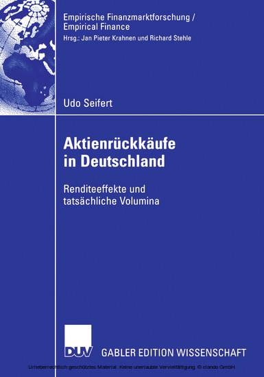 Aktienrückkäufe in Deutschland - Blick ins Buch