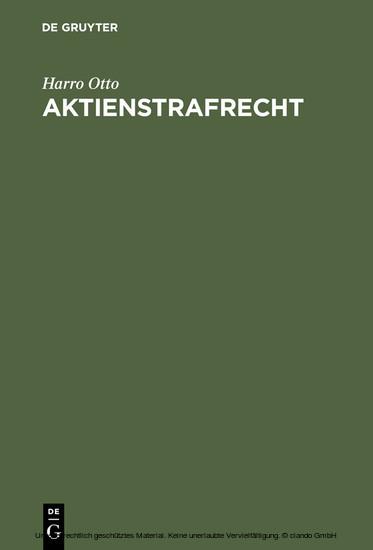 Aktienstrafrecht - Blick ins Buch