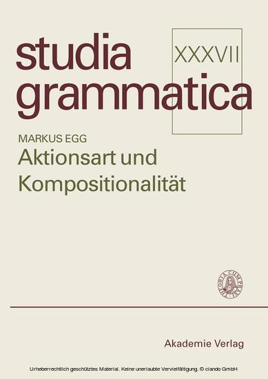 Aktionsart und Kompositionalität - Blick ins Buch