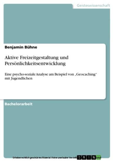 Aktive Freizeitgestaltung und Persönlichkeitsentwicklung - Blick ins Buch