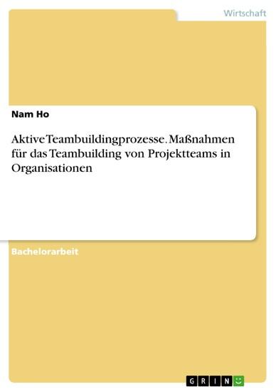 Aktive Teambuildingprozesse. Maßnahmen für das Teambuilding von Projektteams in Organisationen - Blick ins Buch