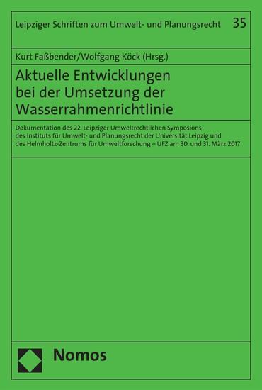Aktuelle Entwicklungen bei der Umsetzung der Wasserrahmenrichtlinie - Blick ins Buch