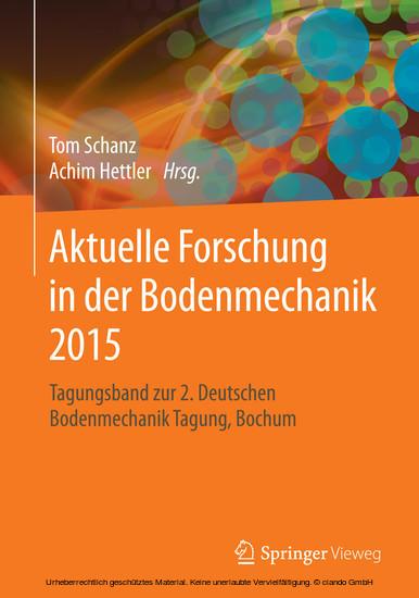 Aktuelle Forschung in der Bodenmechanik 2015 - Blick ins Buch